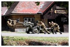 Bojová ukázka u příležitosti oslav osvobození obce